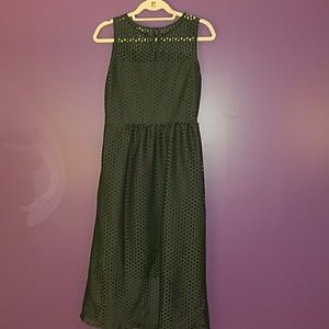 H&M Dresses - 🆕 H&M Dark Hunter Green dress with latice lace